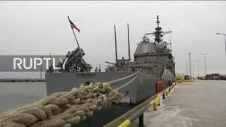 Estonia: US missile cruiser arrives in Tallinn ahead of independence day