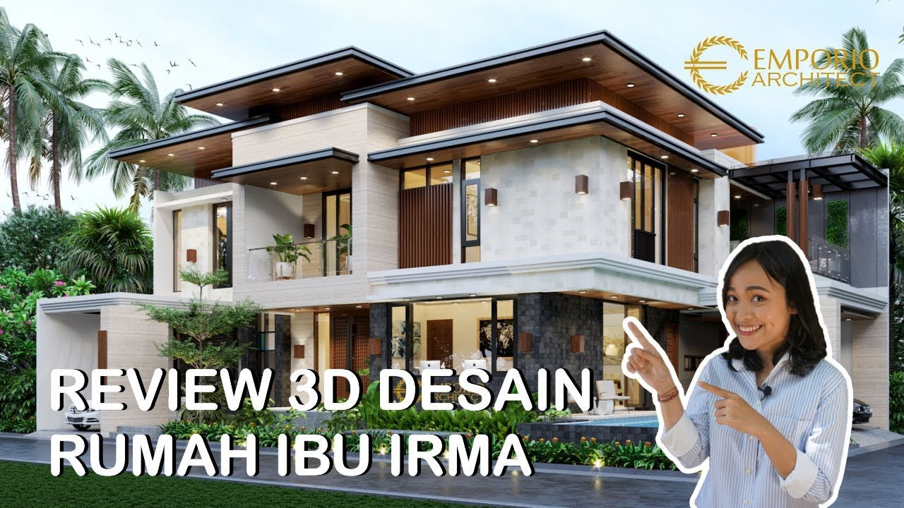 Video 3D Desain Rumah Hook Modern 2 Lantai Ibu Irma di Pamulang, Tangerang
