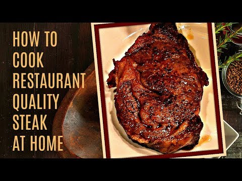Video ????????‍???? How To Cook A Perfect Steak - In The Oven And Pan Seared On The Stove - Easy to Make Recipe