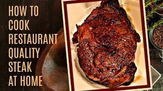 How To Cook A Perfect Steak - In The Oven And Pan Seared On The Stove - Easy to Make Recipe