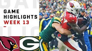 Cardinals vs. Packers Week 13 Highlights | NFL 2018