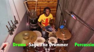 SAGE THE DRUMMER  WERRASON WENGE MMM SEBEN MIX COVER BY THE TRIOS OF AFRICAN BAND   COVER #2