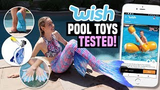 TRYING POOL FLOATIES & TOYS FROM WISH!!