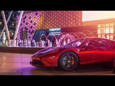 Driving The Ferrari 458 Speciale INSIDE Dubai Mall!