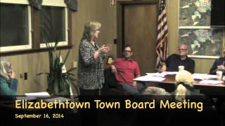preview picture of video 'Elizabethtown, NY September 16, 2014 Town Board Meeting'
