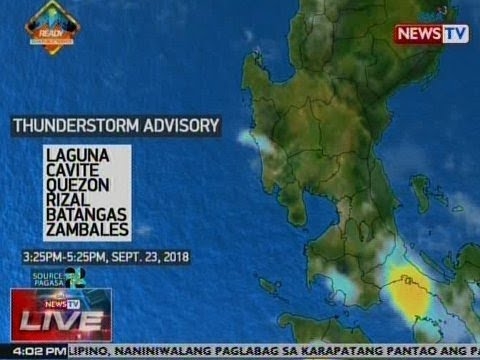 [GMA]  NTVL: Weather update as of 4:02 p.m. (Sept. 23, 2018)