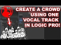 Generate a BACKING CROWD using ONE VOCAL TRACK in LOGIC!