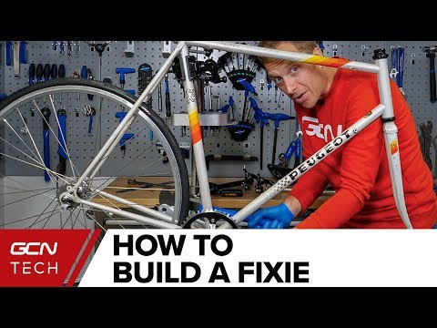How To Build A Fixie  - Real Time Complete Build | Cheap Bike To Fixie Ep. 3