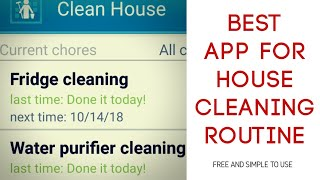 Daily House Cleaning Schedule App | Weekly, Monthly Cleaning Routine Made Easy