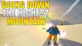 Going Down The Highest Mountain In Steep