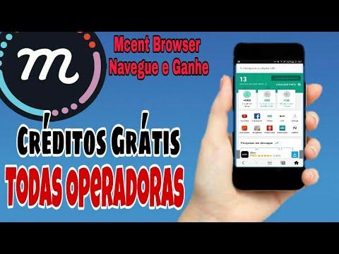 Como Ganhar Créditos GRÁTIS - Ganhe Recrgas Grátis de Celular - Mcent Browser