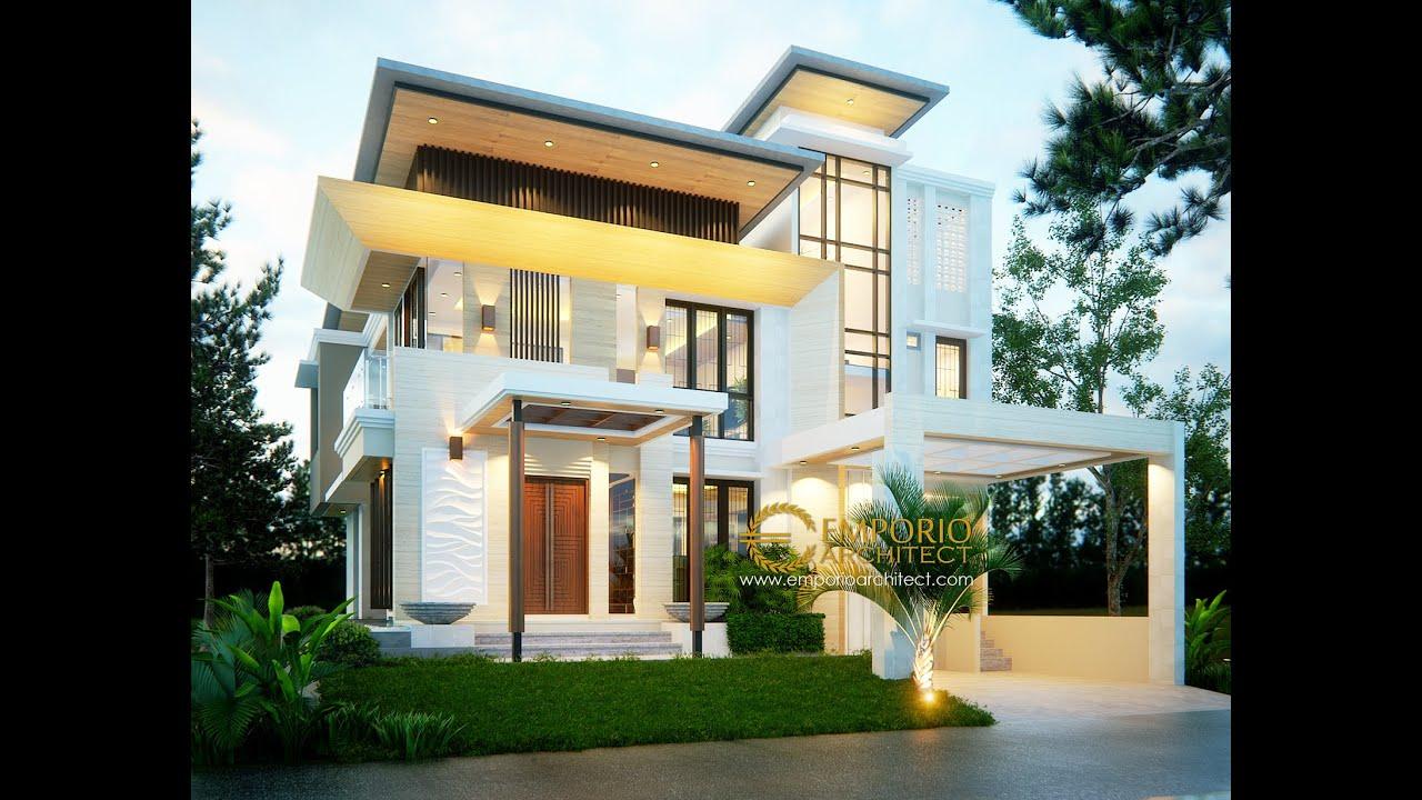 Video 3D Desain Rumah Modern 2 Lantai Ibu Dina di BSD, Tangerang