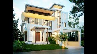 Video Desain Rumah Modern 2 Lantai Ibu Dina di  BSD, Tangerang