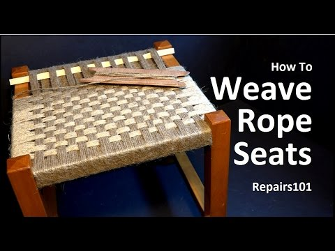 How to Weave Rope Seats