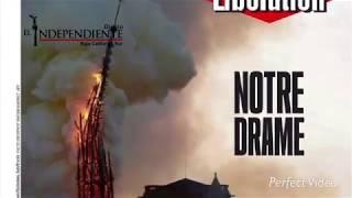 Incendio de la Catedral de NotreDame en Paris, Francia