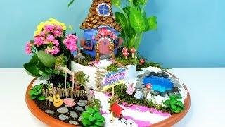 How To Make A Fairies Garden Cute Miniature - DIY Fairy House With Coke Bottle - Isa ❤️