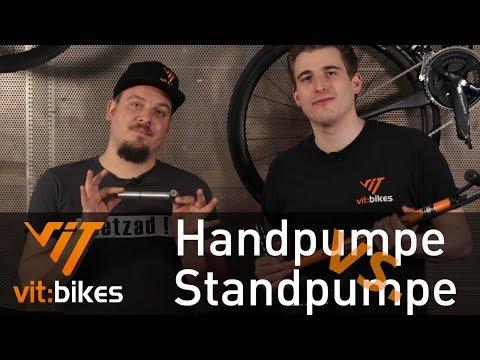Handpumpe vs. Standpumpe - Was ist besser? - vit:bikesTV