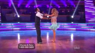 Chynna Phillips & Tony Dovolani Jive