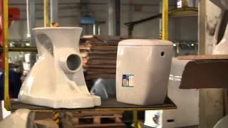 Умывальник подвесной Cersanit (керзанит, церсанит) для ванны Carina 70 мебельный, от компании CERSAN - видео