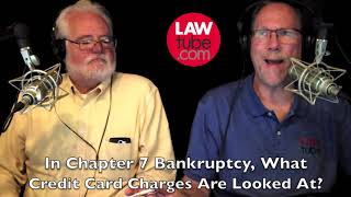 What credit card purchases are looked at in a chapter 7 bankruptcy?