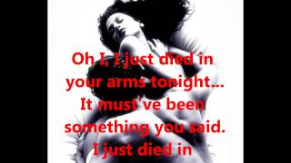 TO/DIE/FOR - I Just Died In Your Arms