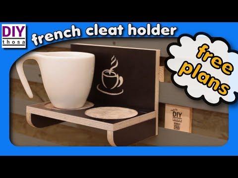 How to make a Coffee Cup Holder - FREE PLAN DOWNLOAD - Tassen Halter