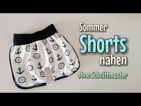 Sommer Shorts - OHNE Schnittmuster nähen - Für Anfänger - Nähtinchen