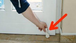 Put A Bundle Of Lemon Peels Behind The Door. It Works Wonders!