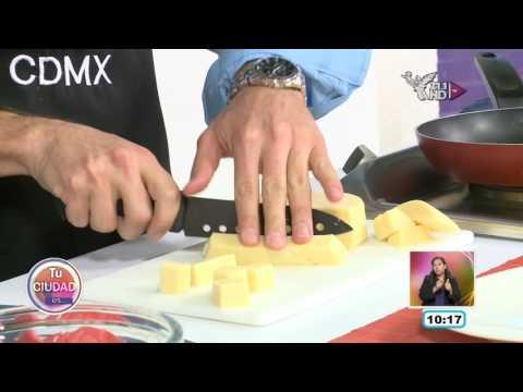 EN LA COCINA  - Cubos de queso empanizado con mermelada de zarzamora