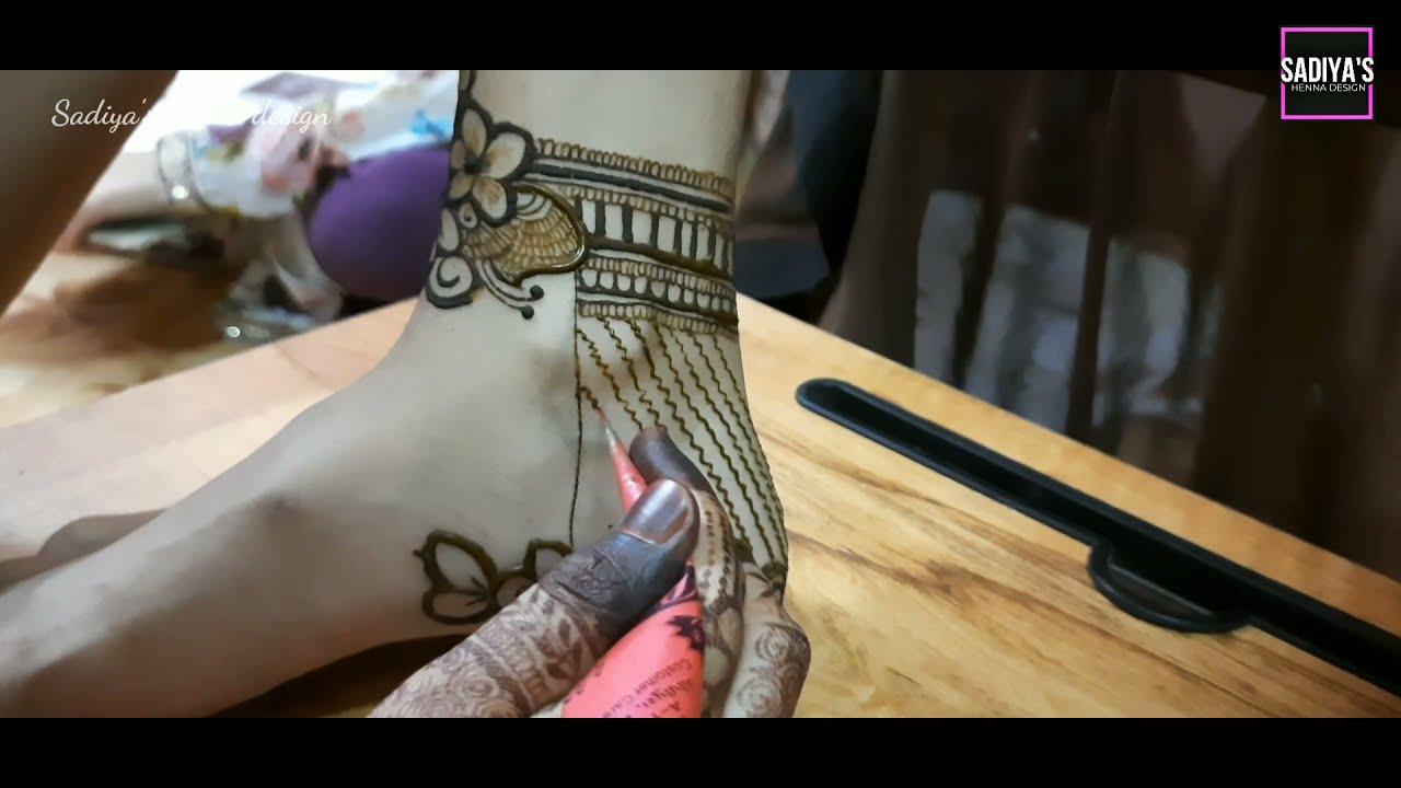 very gorgeous leg mehndi bridal mehndi design by sadiya's henna design
