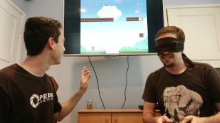 Blindfolded Super Mario!