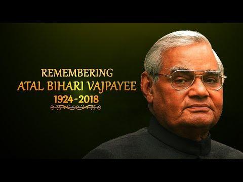 Remembering #BJP's tallest leader #AtalBihariVajpayee on his first death anniversary