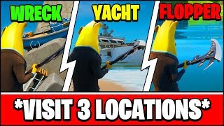 VISIT SHIPWRECK COVE, YACHT, AND FLOPPER POND LOCATIONS (Fortnite Season 2 Week 5 Challenges)