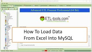 ETL Tools Tutorial For Beginner : How To Load Data From Excel Into MySQL
