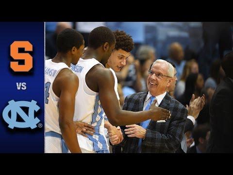 Syracuse vs. North Carolina Men's Basketball Highlights (2016-17)
