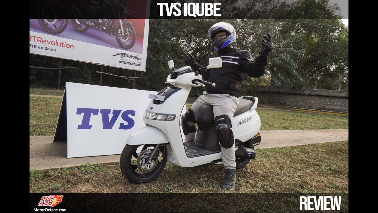Motoroctane Youtube Video - TVs iQube Electric Scooter Review - Range kitna hai? | Hindi | MotorOctane