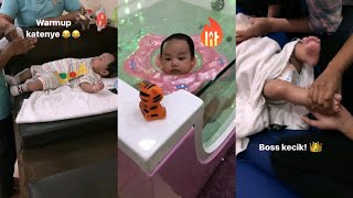 Seronoknya Syaikhul Islam, Puteri Sarah Liyana Bawa Pergi Massage & Swimming Di Hippopo Baby Spa