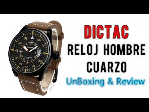 Dictac Reloj Hombre de Cuarzo Deportivo Analogico Impermeable | UnBoxing+Review Español