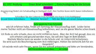 Brief Schreiben B1 Entschuldigung Kamusharga