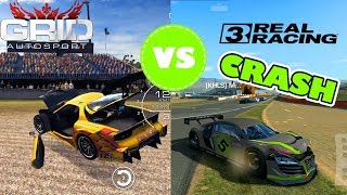 REAL RACING 3 VS GRID AUTOSPORT PHYSICS COMPARISON [crashes, damage model]