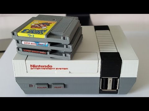 This Mini NES Raspberry Pi Case Accepts Micro-Sized Cartridges Too