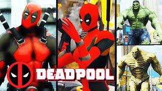 Team Deadpool VS. Team Hulk (GTA 5 Mods Funny Moments)
