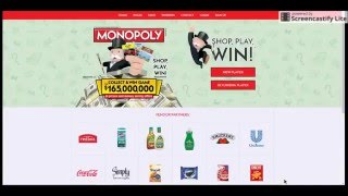 How To Enter The Monopoly Collect and Win Game At PlayMonopoly us Video Tutorial