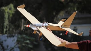 How to make a cardboard airplane - flying bottle airplane