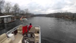 Pontoon Rainbow Trout Fishing Lake Taneycomo Branson Missouri