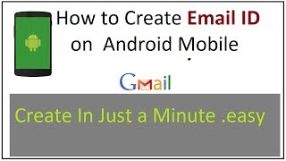 How to create new email Id on android phone