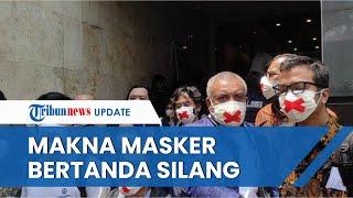Haris Azhar & Fatia Pakai Masker Tanda Silang untuk Temui Luhut di Mapolda, Pengacara: Pembungkaman