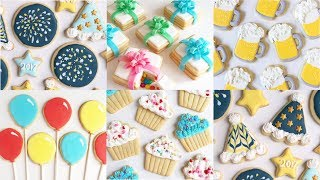 Party And Celebration Cookies! - Cookie Decorating Compilation By Suzylizz