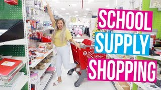 SCHOOL SUPPLY SHOPPING 2018!!