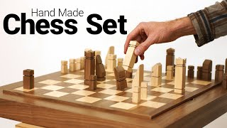 Making a Chess Board and All of Its Pieces - Including the Horse, the Castle, and the Pointy One!